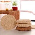 Татами футон подушка для медитации 30 см 40 см круглая йога круг кукурузная шелуха плетеный коврик в японском стиле Подушка с шелковой ватой