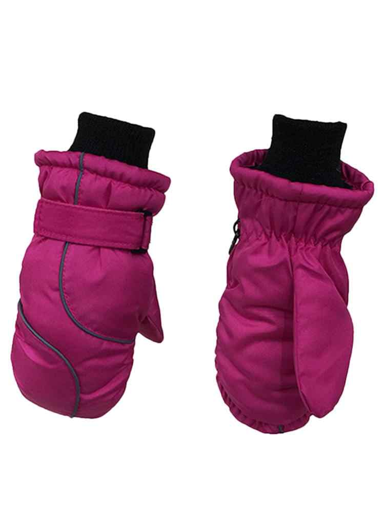 Children's Gloves Thicken Ski Gloves Windproof And Waterproof Warm Gloves For Children Thicken Keep Warm Winter Must