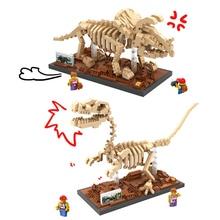 Triangulation Dragon Raptor Small Particles Assembled Jurassic Dinosaur Fossil Building Blocks Toys Christmas World