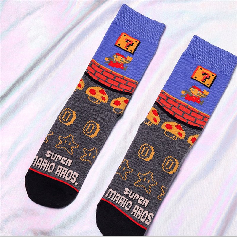 Super Mario Cartoon Bros New Arrival Cute Cartoon Anime Men Women Socks Ankle Socks Kawaii Party Favor Cosplay Gifts