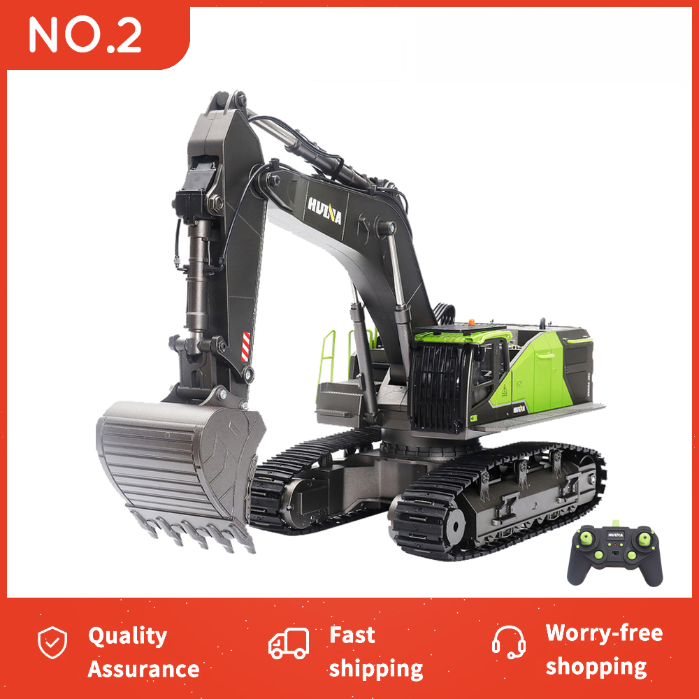 HUINA 1/14 RC Excavator 22CH Truck Caterpillar Alloy Tractor Engineering Car 2.4GHz Radio Controlled Car Toy for Boy