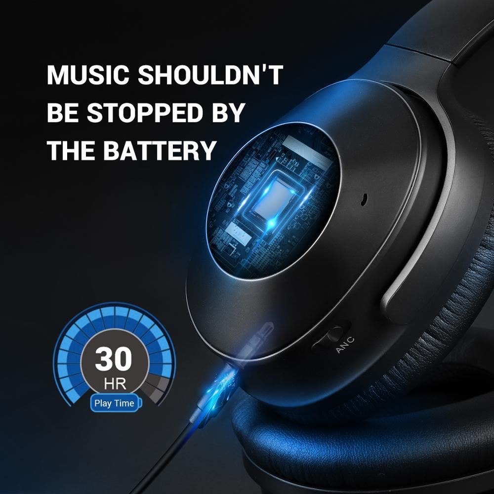 Image 5 - OneOdio Original A9 능동형 소음 차단 무선 헤드셋 (마이크 스테레오 포함) 이어폰 헤드셋 무선 헤드폰 (폰용)해드폼/헤드셋   -