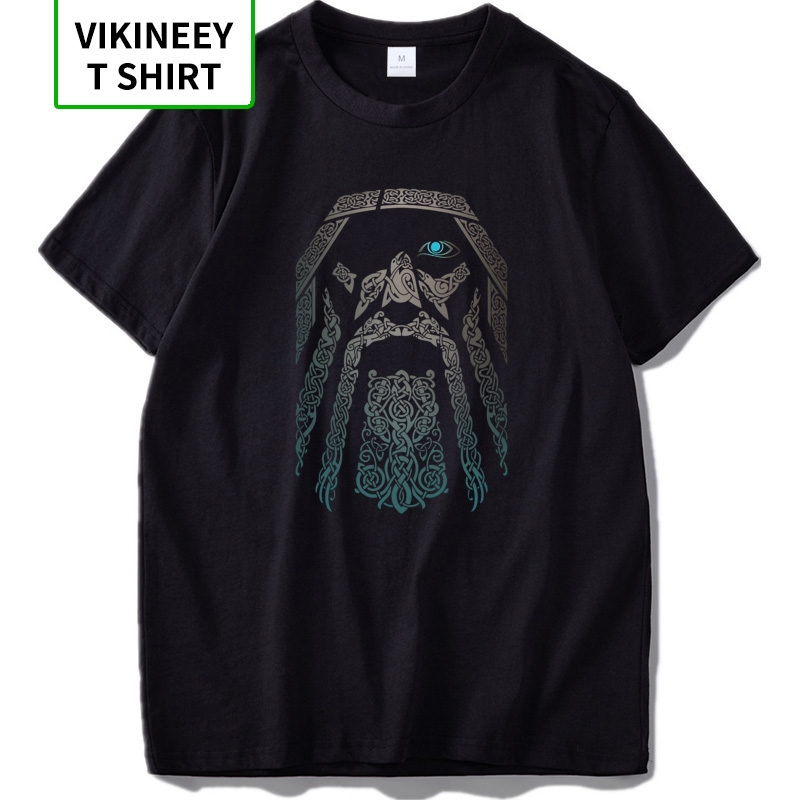 Odin T <font><b>shirt</b></font> Vikings Aesir <font><b>God</b></font> Nordic Mythology Cool Tee <font><b>Shirt</b></font> Digital Print Black 100% Cotton T-<font><b>shirt</b></font> EU Size image
