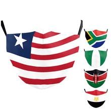 Kids Masks Africa-Flag-Masks Washable Adult Nigeria America Print Egypt Kenya Outdoor