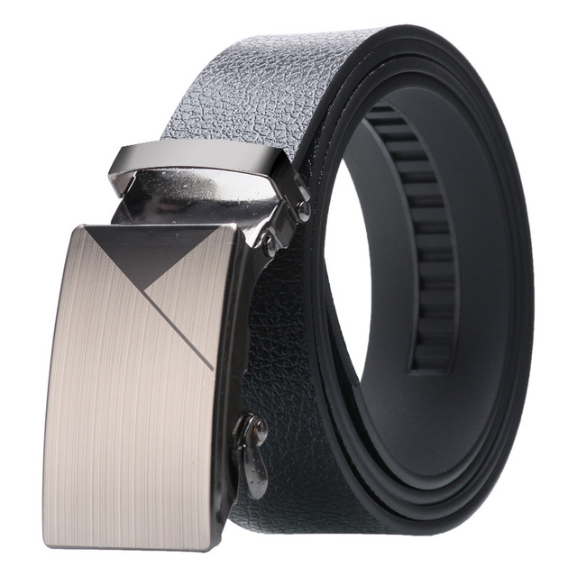 Alloy Buckle Artificial Leather Bark texture Business Casual Belt 1