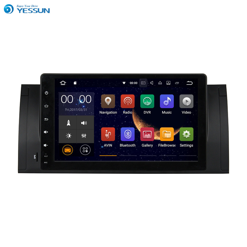 YESSUN For <font><b>BMW</b></font> M5 / <font><b>E39</b></font> / X5 / E53 Android Car GPS Navigation player Multimedia Audio Video Radio Multi-Touch Screen image