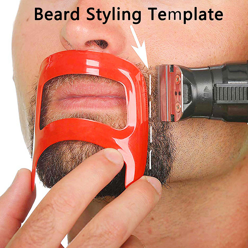 Mustache Beard Styling Template Tools For Men Fashion Shave Shaping Template Beard Style Comb Care Tool High Quality