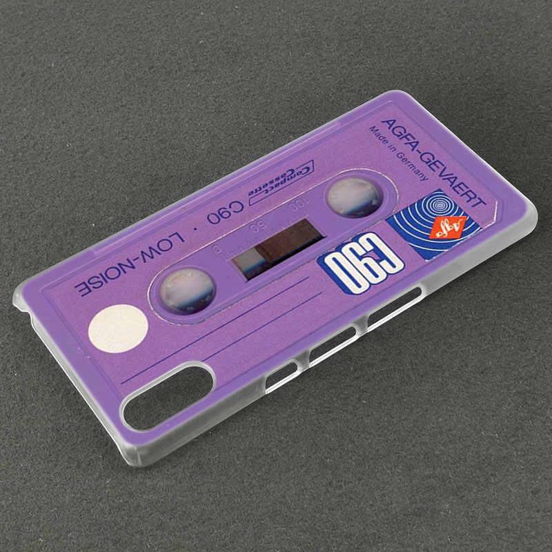 Klasyczne stare kaseta Case dla Sony Xperia X XA XA1 XA2 Ultra L1 L2 L3 E5 XZ XZ1 XZ2 kompaktowy XZ3 M4 Aqua Z3 Z5 Premium pokrywa