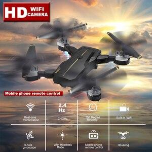 Image 2 - 新しいインテリジェント折りたたみ rc ドローン高 hd 無線 lan カメラ 360 回転 fpv quadcopter 安定したジンバルヘッドレスプロ dron