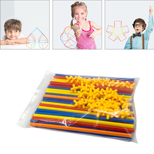 100pcs Straw Constructor Kit Construction Fort Building Toy Creative Game