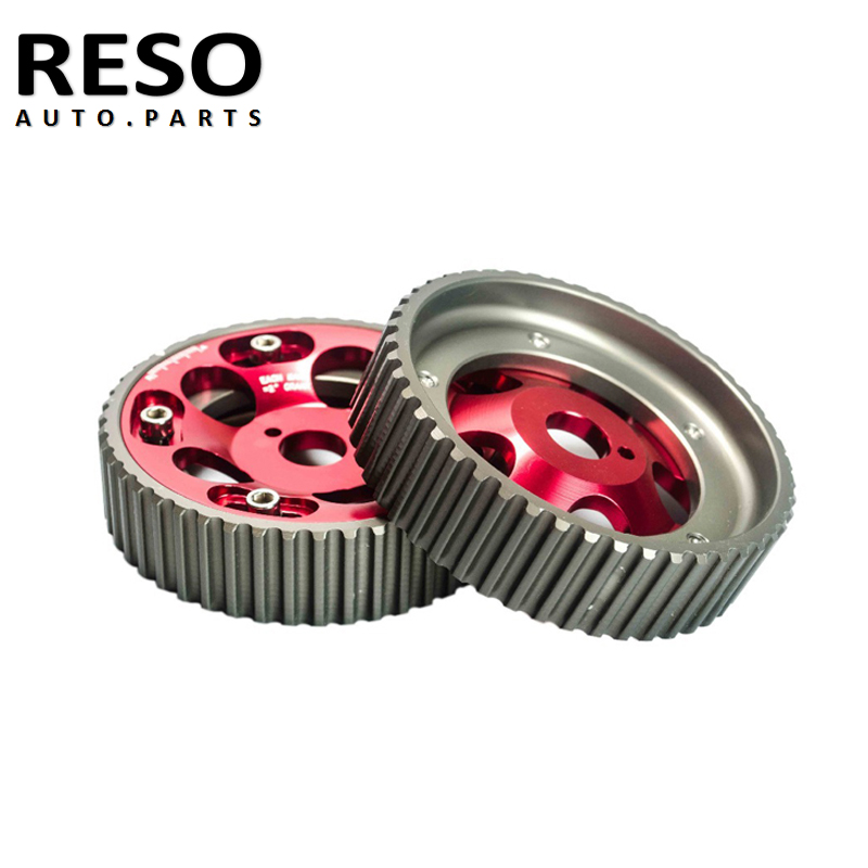 RESO - Red Powered Adjustable Aluminum Gear Cam Pulley For <font><b>Toyota</b></font> <font><b>1JZ</b></font> <font><b>2JZ</b></font> DOHC Engine image