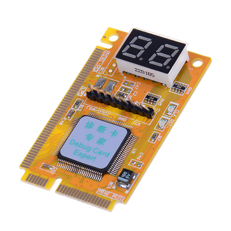 Mini PCI-E LPC PC Analyzer Tester POST Card Test For Notebook Laptop Hexadecimal Character Display 4