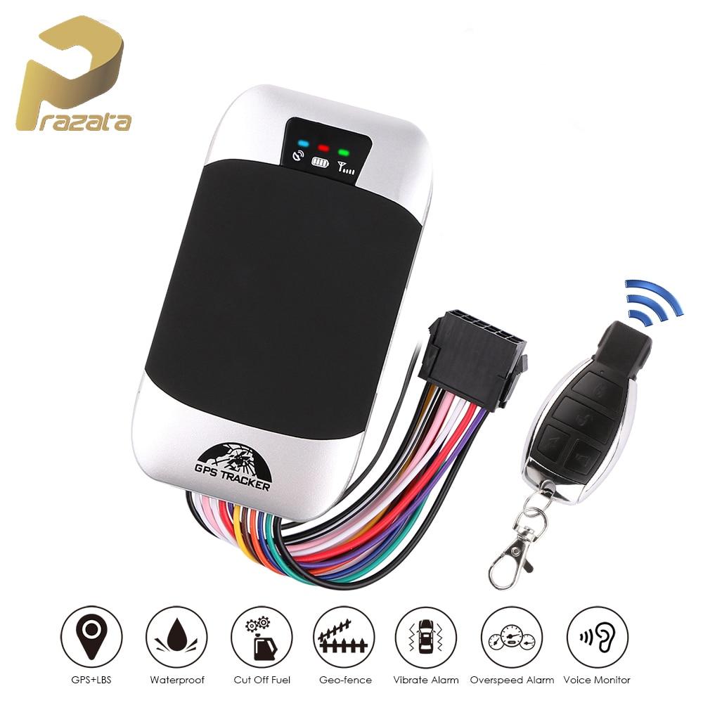 Автомобильный GPS-трекер Prazata, водонепроницаемый GPS-локатор TK303G с дистанционным управлением, голосовым мониторингом и отключением двигателя