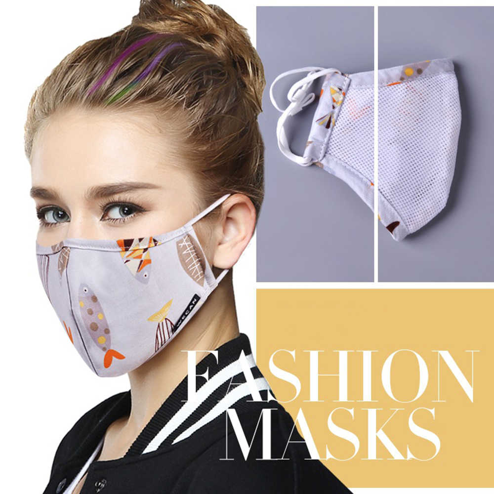 Medical Cotton 5 Running Carbon Mask With Masks Anti Flu Pm2 Pop Face Korean Fabric Winter Filter Fn95 Mouth-muffle On
