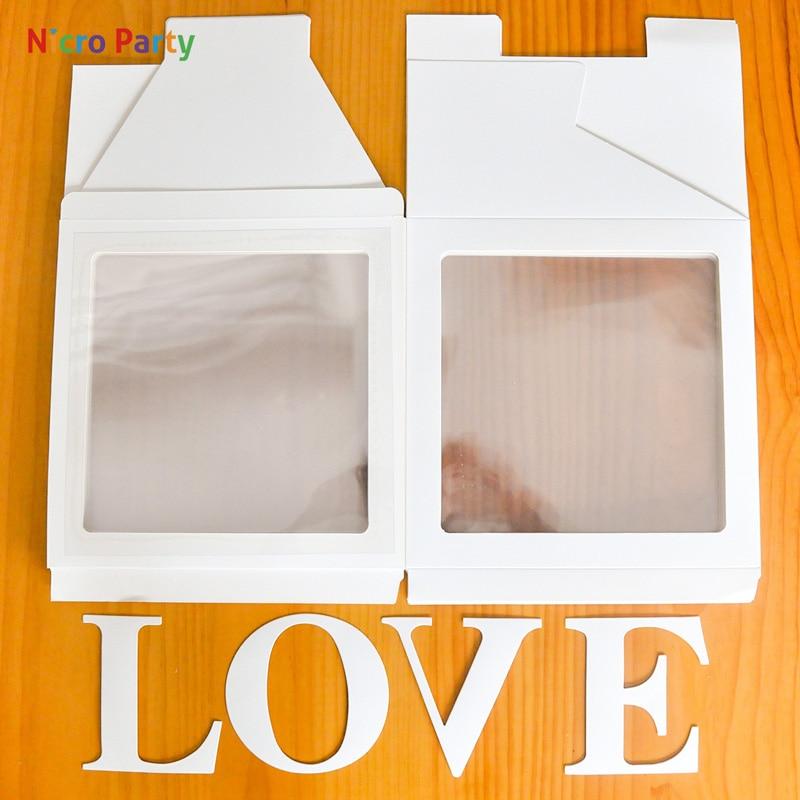 Baby Decor Box DIY Shower Pink Party Box Packing White Letter Alphabet Wedding LOVE Name Nicro Transparent Birthday Balloon