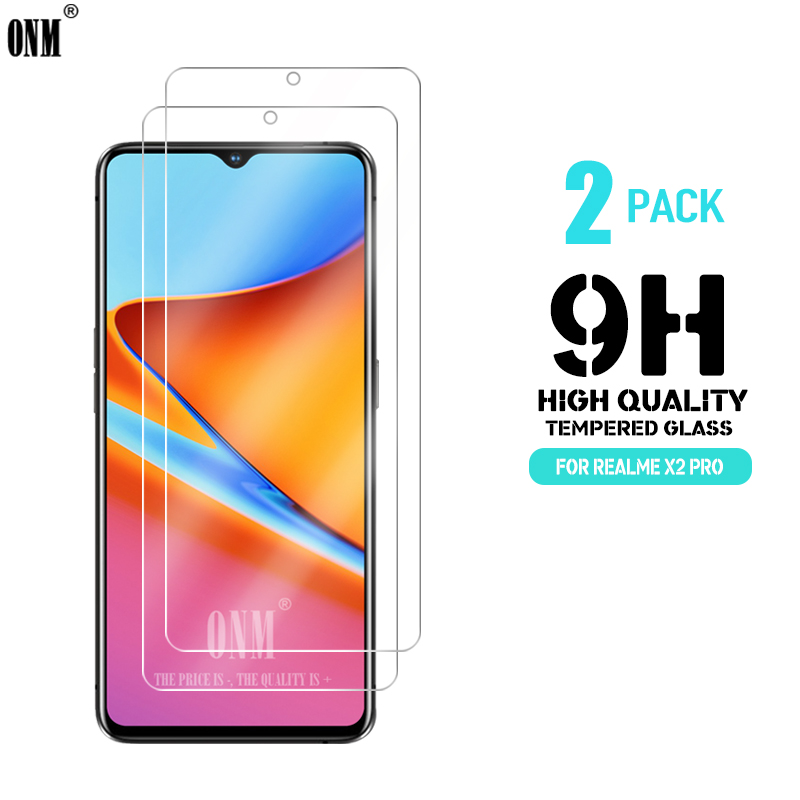 2 Pcs Tempered Glass For REALME X2 PRO Screen Protector Premium Tempered For X2 PRO Protective Film