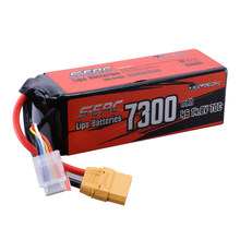 SUNPADOW 14.8V 4S LiPo Battery 7300mAh 70C with XT90 Connector Soft Pack for RC Vehicles Car RC Truck Tank Boat Racing Hobby