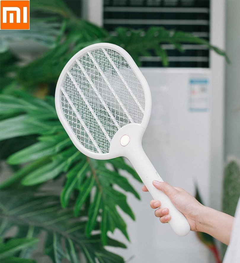 Xiaomi Jordan&judy 3000V Electric Mosquito Swatter Three-layer Anti-electric Shock Net USB Charging Mosquito Dispeller