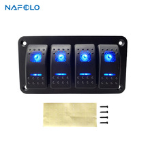 2/3/4 Gang Rocker Switch Panel Car SUV Marine RV Truck Camper Boat Circuit LED Breaker Waterproof ON/Off Toggle Switch Panel