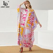 Женское свободное платье до щиколотки linda della Элегантное