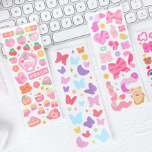 Colorful Bubble Series Laser PET Stickers Creative Cartoon Cute Girl Diary Hand Account Decorative Sticker Korean Stationery