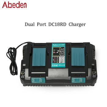 Abeden Charger Replace For Makita Battery 18v Lithium ion Tool Battery Charger DC18RD Charger For Makiita 18V Charger BL1830 eleoption with charger 18v 5000mah li ion rechargeable battery for ryobi 18v battery and charger p108 p310 for one biw180