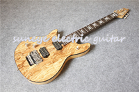Natural Wood Glossy Finish Left Handed Electric Guitar Wolfgang Style Guitarra Electrica DIY Guitar Kit Available