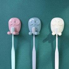 Toothbrush Rack Owl Hook Kitchen Stick Holder Cartoon Socket Plugs Receive