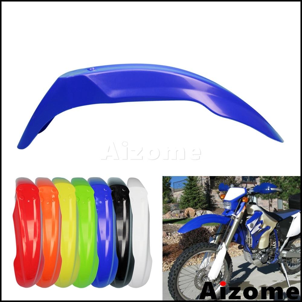 Универсальный внедорожный передний брызговик, синий брызговик для мотокросса Yamaha WR250F WR450F YZ XT TTR225 TTR230