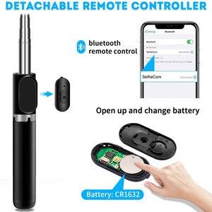 Image 3 - 4 In 1 Draadloze Bluetooth Selfie Stok Met Statief Lichtmetalen Self Selfiestick Smartphone Selfie Stick 3 Telefoon Voor Iphone camera