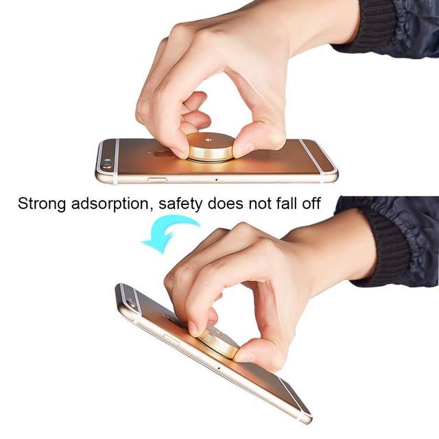 360 Support de téléphone de voiture magnétique dans la voiture pour IPhone 7 XR X Xiaomi Support magnétique de téléphone portable portable Support de table de chevet mural GPS