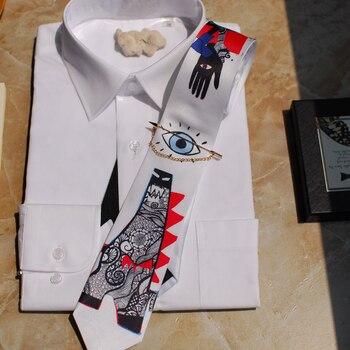 Free Shipping New 2020 Male men's Original design Fashion Tie Dinosaur Design Tie Gifts British Party Wedding Groomsmen necktie