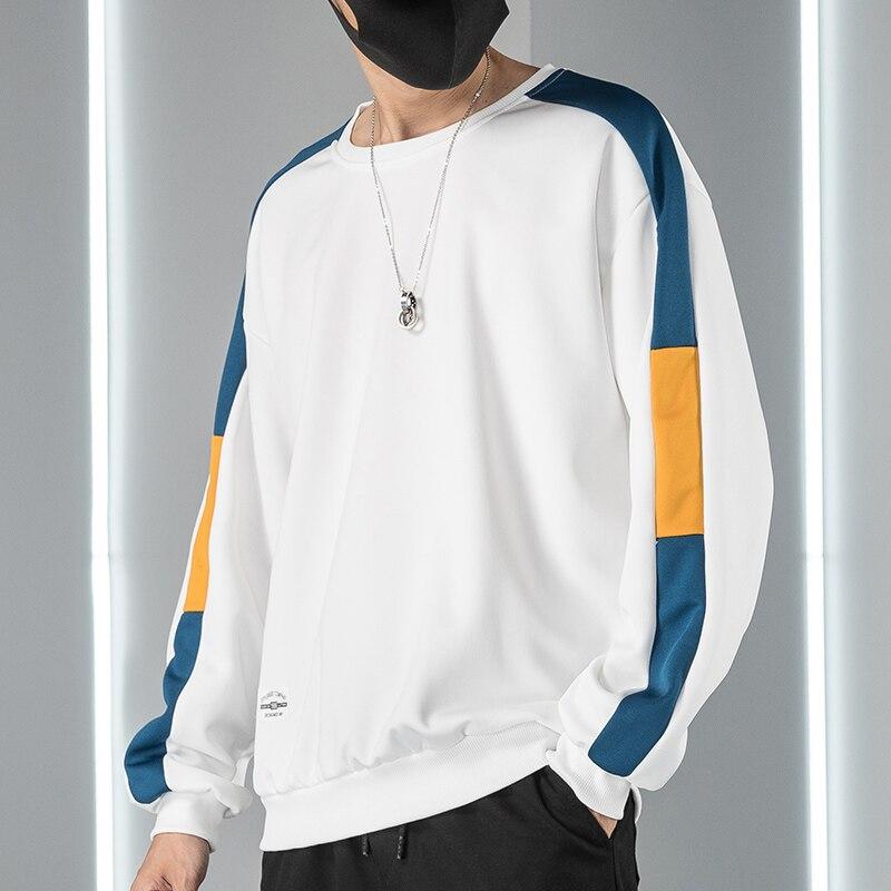 Oversized Sweatshirt Men Hip Hop 2020 Autumn Winter Long Sleeve Streetwear Pullovers Yellow White Black Hoodie Male Top Outwear