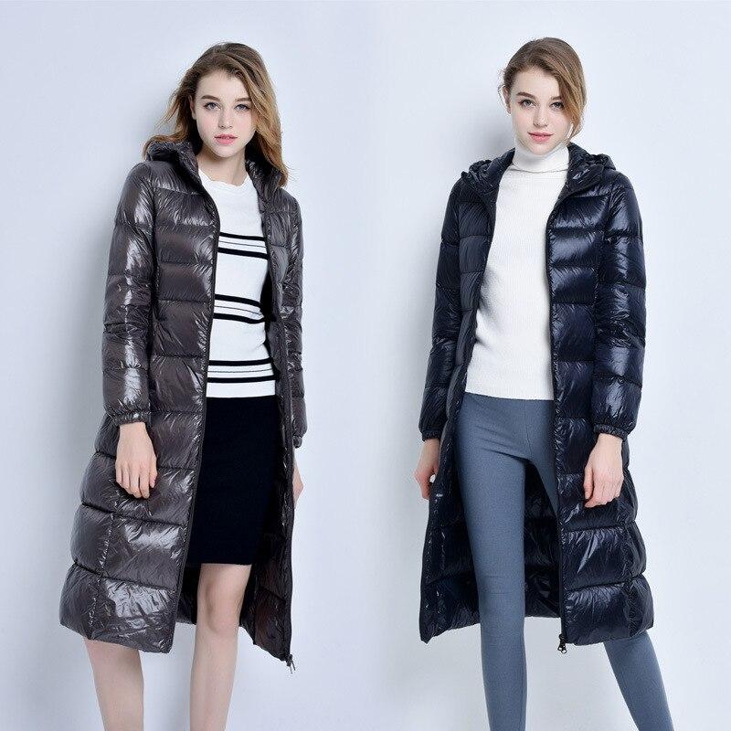 2020 New Winter Down Jacket Women Hooded Long Coat Female Puffer Jacket Duck Down Jackets For Women Parka KJ2682