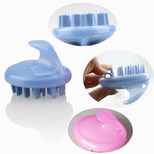 Plastic massage comb shampoo comb silicone shampoo brush shampoo massage brush comb comb meridian massage instrument green sandalwood combed wooden head neck mammary gland meridian lymphatic massage comb wide teeth comb