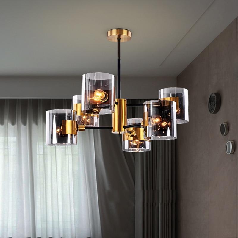 2019 New Nordic Postmodern Minimalist Glass Chandelier Creative Personality Living Room Bedroom Designer Light Luxury Lamps