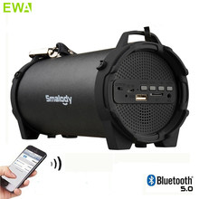 EWA Portable Wireless Bluetooth 5.0 Speaker Outdoor USB Mini Loudspeaker Music Column Speakers Subwoofer With Carry Strap FM(China)