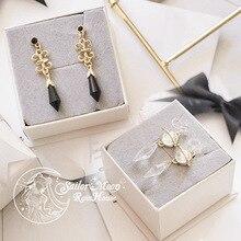 Marin Moon Saturn pour femmes noires, boucles doreilles en argent brillant, Clip pour boucles doreilles, accessoires bijoux Cosplay, fait à la main, cadeau pour filles, 925