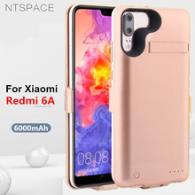 6000mAh External Battery Power Case For Xiaomi Redmi 6A Backup Bank Charging Cover for Charger Cases