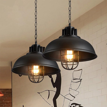 American Retro Industrial Pendant Lights cage Kitchen Hanging lamps Loft light metal lampshade Home Fixtures      WJ430