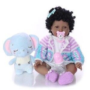 Черные Детские куклы поп-зеленые Африканские 22 дюйма reborn силиконовые виниловые 55 см Новорожденные poupee boneca детские мягкие игрушки для девоч...