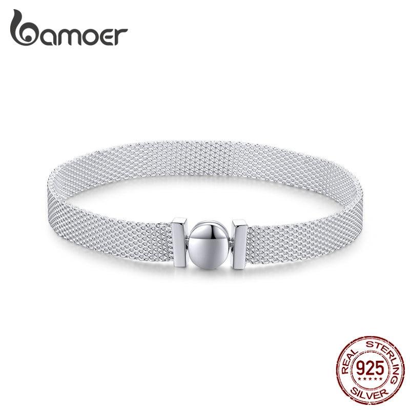 Bamoer 100% Real Sterling Silver 925 Reflexions Bracelet Watch Bracelets For Women European Luxury Fine Jewelry SCX110
