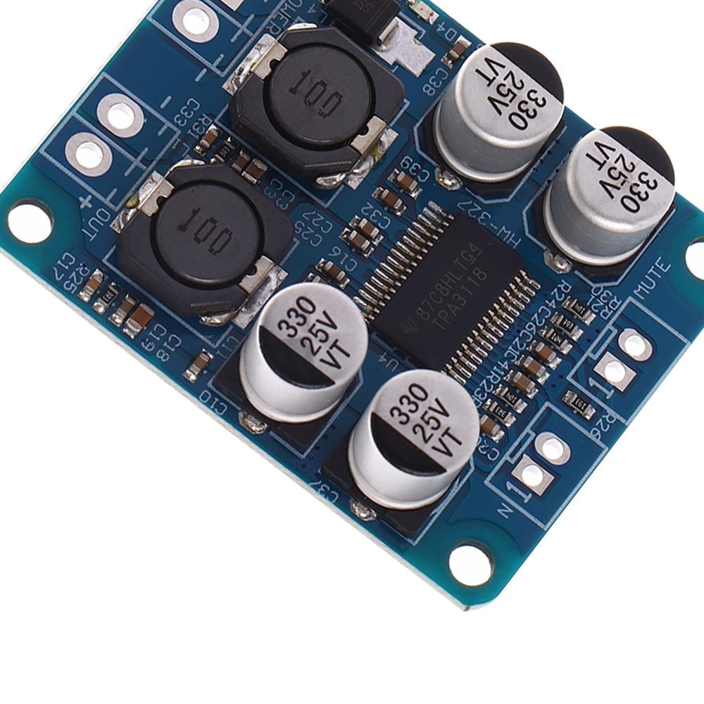 DC8-24V TPA3118 PBTL Stereo Sound 60W Digital Audio Power Amplification Board Amplifier Module