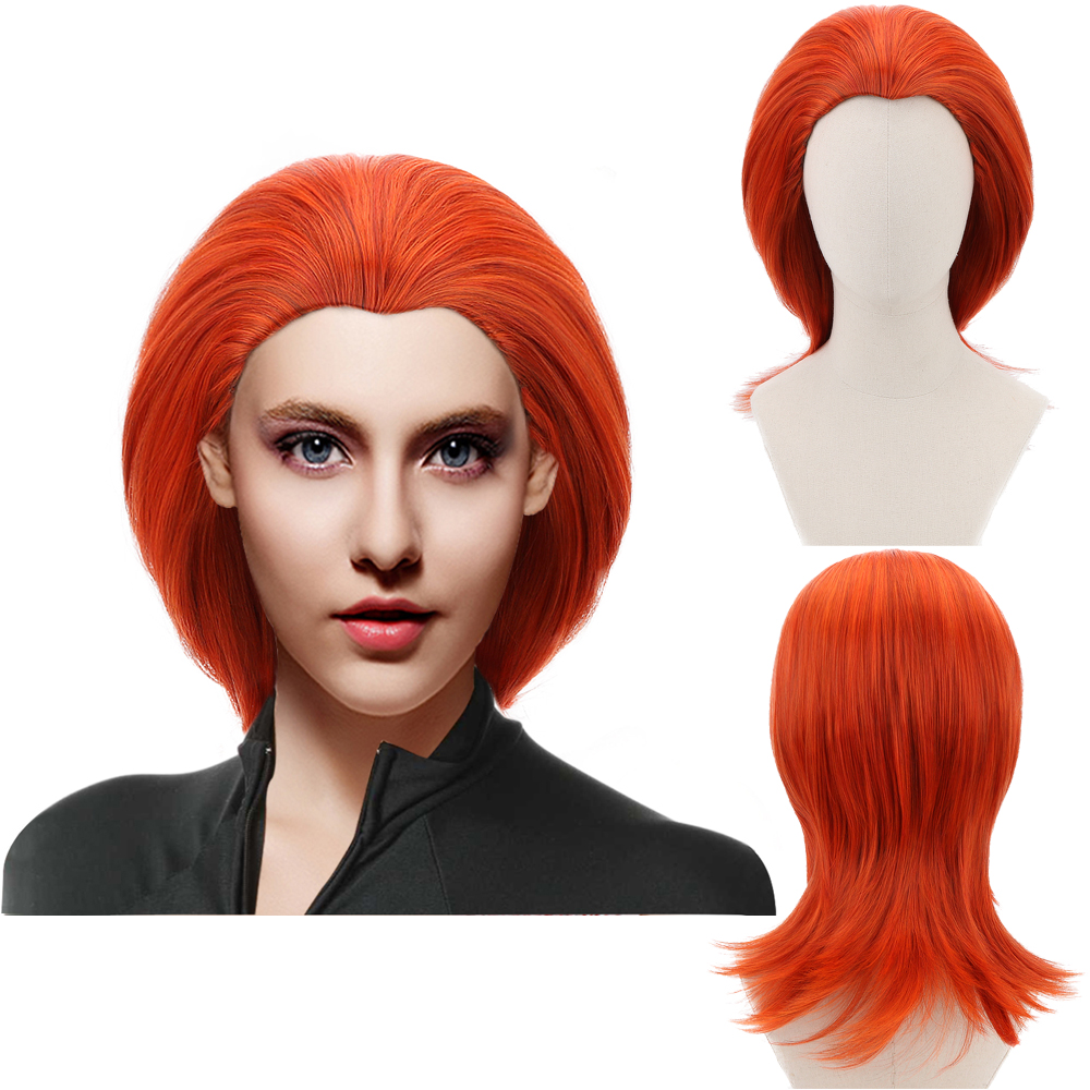 Comic Movie Mystique Rogue Storm Long Straight Orange Reddish Cosplay Synthetic Hair Wigs for Women Girl Party Costume Halloween