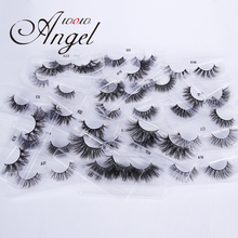WOWANGEL Mink Eyelashes Wholesale 10 Pairs Mix 25mm Natural/