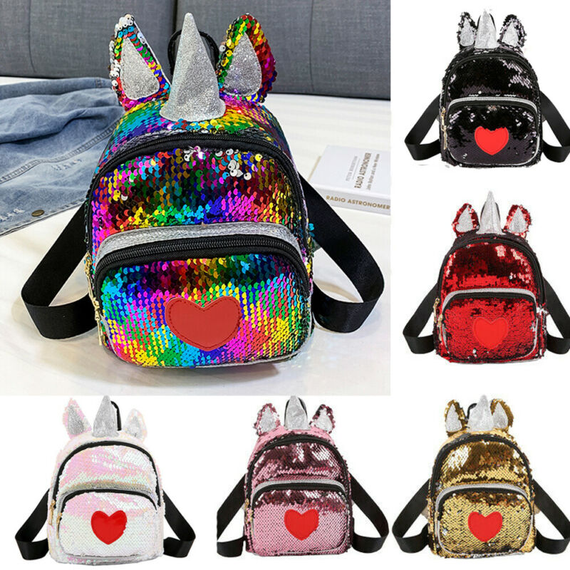 Shining Rainbow Unicorn Kids School Bags For Girls Soft Plush Kids Bag Kindergarten Toddler Children School Backpack Boys Girls