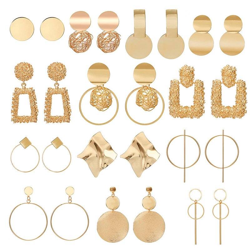 2019 Promotion Pendientes Aretes Fashion Statement Earrings Big Geometric For Women Hanging Dangle Drop Earing Modern Jewelry