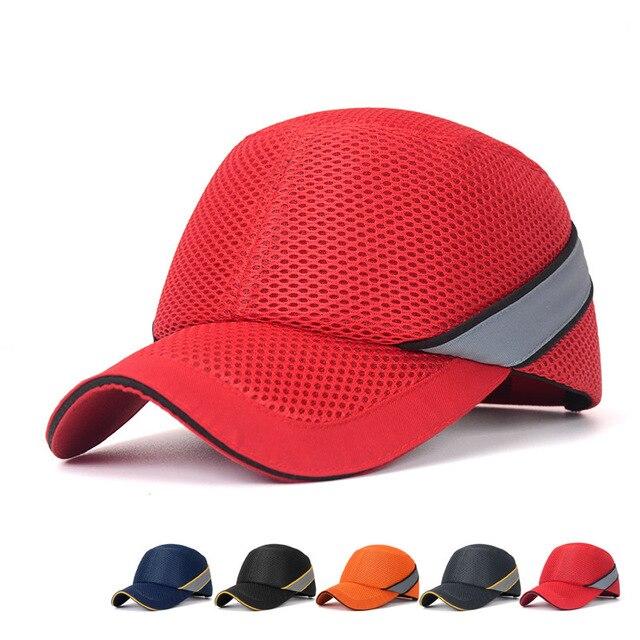 Proteção para capacete de segurança do trabalho, mais novo chapéu de baseball com concha interna dura, estilo para trabalho, fábrica, loja