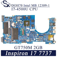 KEFU 12309-1 Laptop motherboard for Dell Inspiron 17-7737 original mainboard I7-4500U GT750M