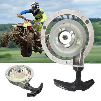цена на 1pc Mini Alloy Pull Starter Part Recoil Start For ATV 49CC Pocket Bike Minimoto Quad Recoil Starter Part Aluminum Silver